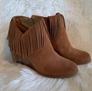 Lucky Brand Wedge Boot with Fringe